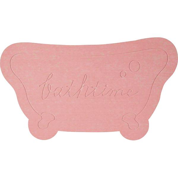 珪藻土モチーフバスマット Bathtime ピンク